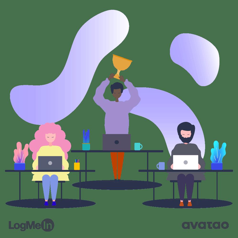 avatao customer story logmein